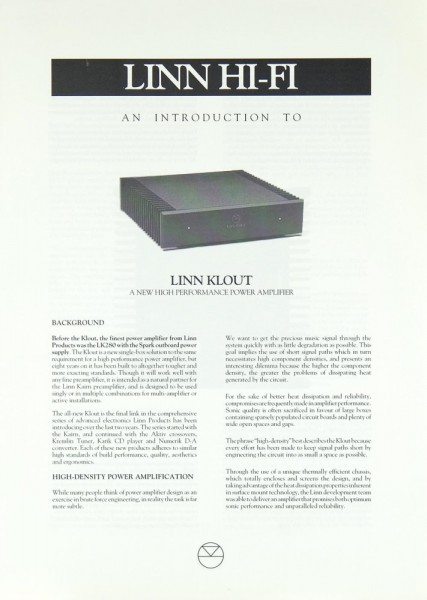 Linn Klout Prospekt / Katalog