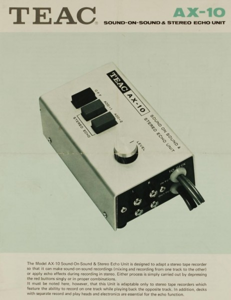 Teac AX-10 Prospekt / Katalog