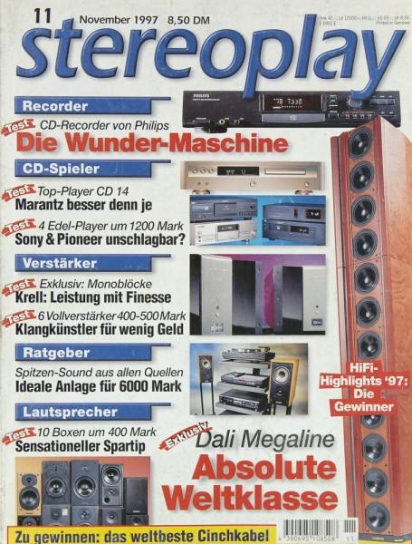 Stereoplay 11/1997 Zeitschrift