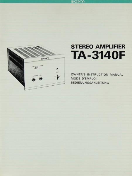Sony TA-3140 F Bedienungsanleitung