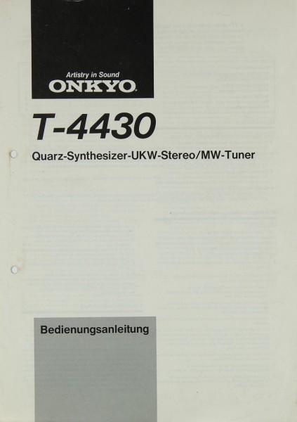 Onkyo T-4430 Bedienungsanleitung