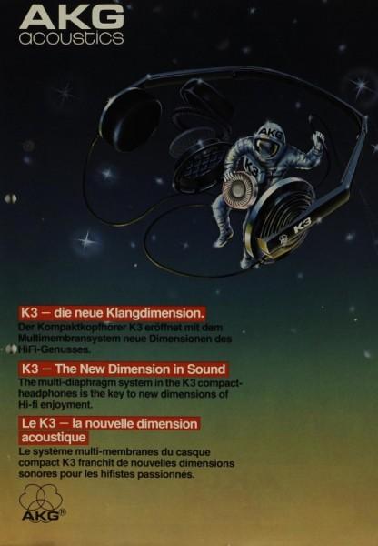 AKG acoustics K 3 Prospekt / Katalog