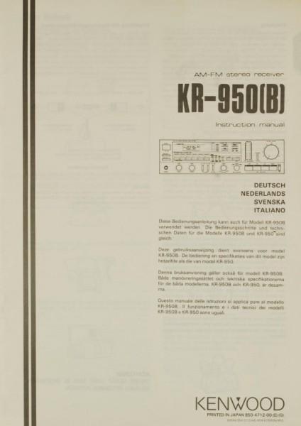 Kenwood KR-950 (B) Bedienungsanleitung