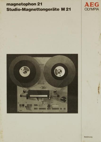 AEG Olympia Magnetophon 21 (M21) Bedienungsanleitung
