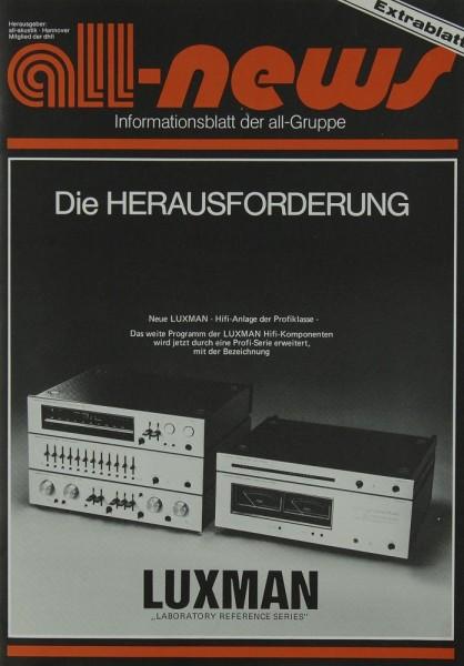 Luxman Die Herausforderung - all news Extrablatt Prospekt / Katalog