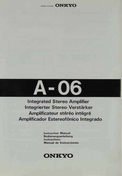 Onkyo A-06 Bedienungsanleitung