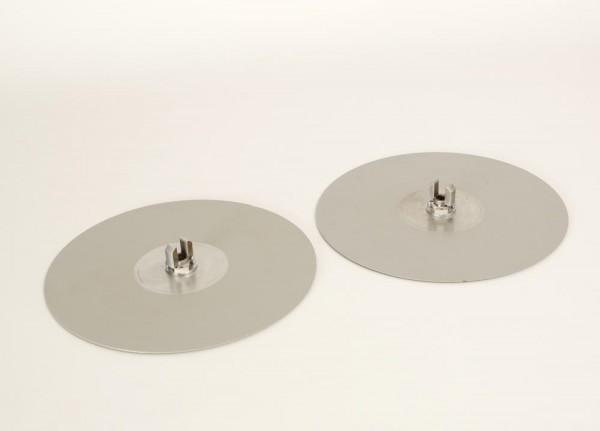 Bandteller silbern 30 cm Paar