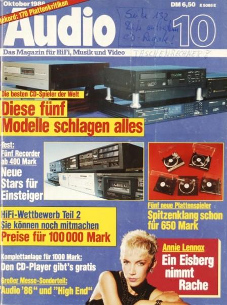 Audio 10/1986 Zeitschrift
