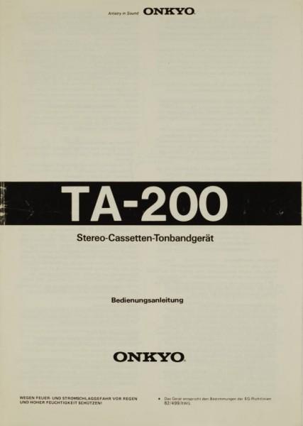 Onkyo TA-200 Bedienungsanleitung