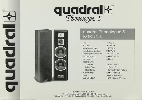 Quadral Phonologue S Korun L Prospekt / Katalog