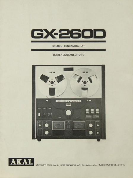 Akai GX-260 D Bedienungsanleitung