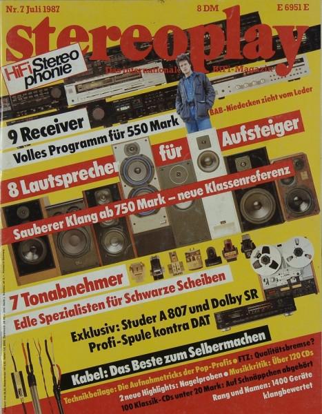 Stereoplay 7/1987 Zeitschrift