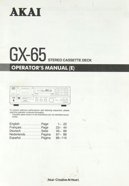 Akai GX-65 Bedienungsanleitung