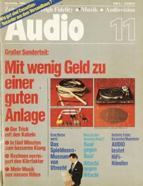 Audio 11/1980 Zeitschrift