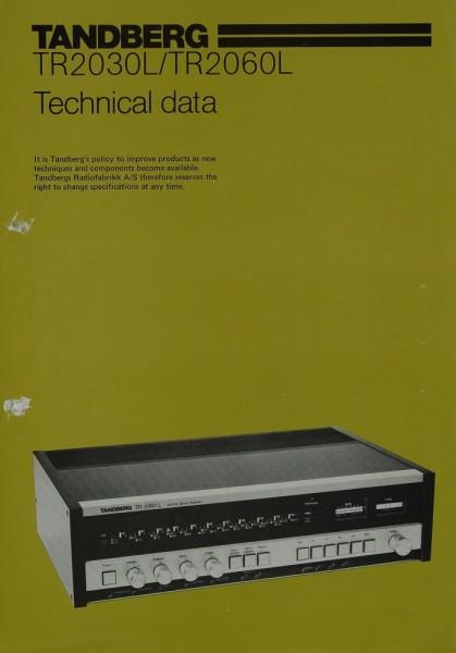 Tandberg TR 2030 L / TR 2060 L Prospekt / Katalog