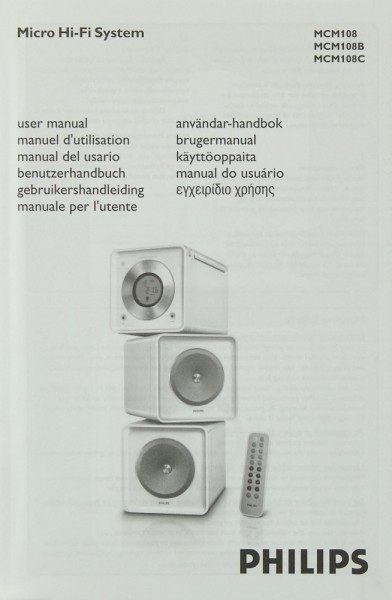 Philips MCM 108 / MCM 108B / MCM 108C Bedienungsanleitung