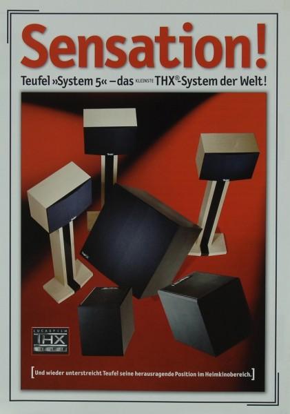 Teufel System 5 Prospekt / Katalog