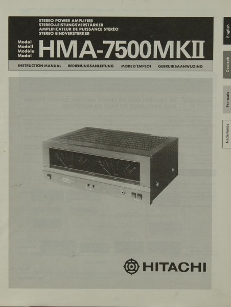 Hitachi HMA-7500 MK II Bedienungsanleitung