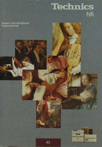 Technics Technics Hifi (92) Prospekt / Katalog