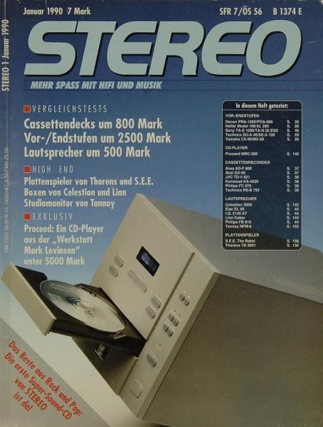 Stereo 1/1990 Zeitschrift