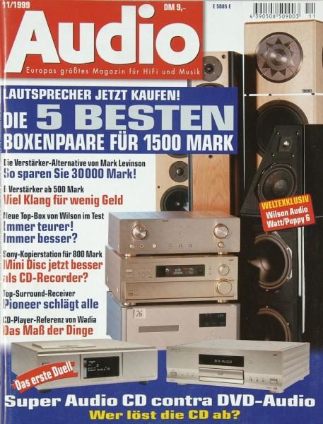 Audio 11/1999 Zeitschrift