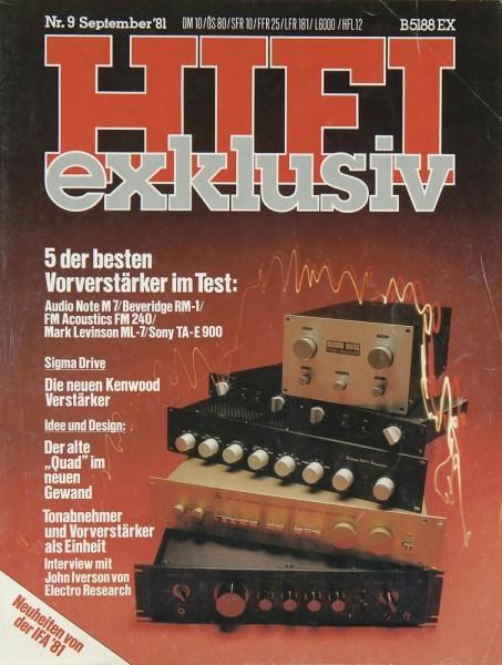 Hifi Exklusiv 9/1981 Zeitschrift