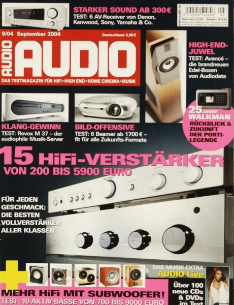 Audio 9/2004 Zeitschrift