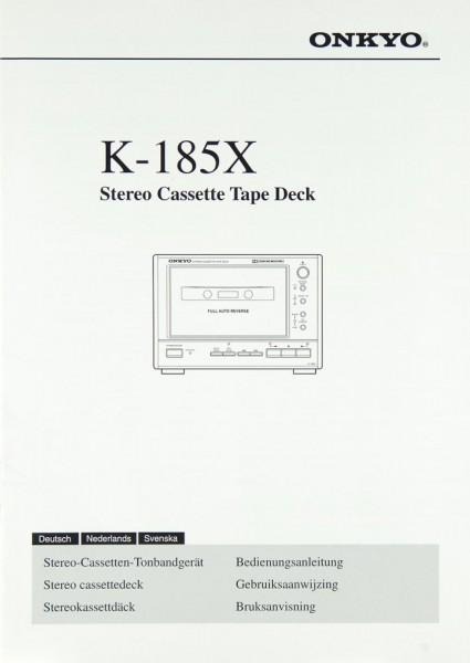 Onkyo K-185 X Bedienungsanleitung
