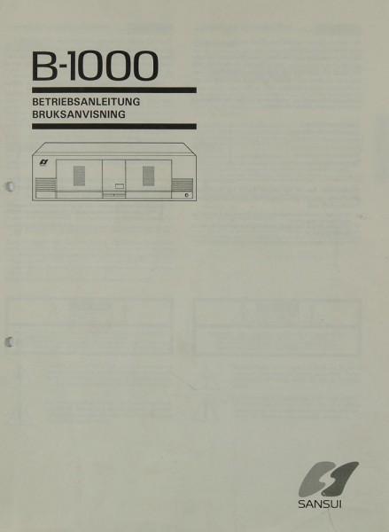 Sansui B-1000 Bedienungsanleitung