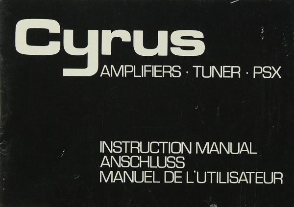 Cyrus Amplifiers (Cyrus 1 / Cyrus 2) - Tuner - PSX Bedienungsanleitung