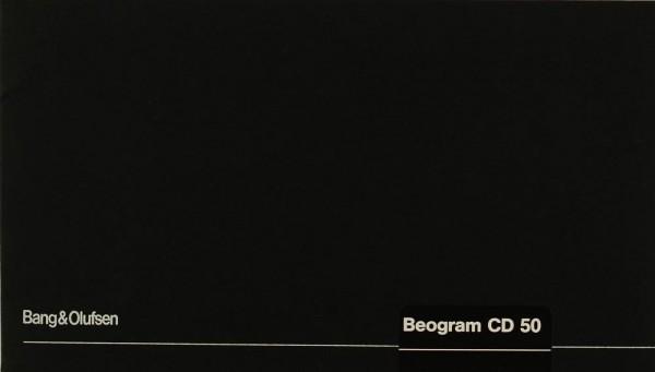 Bang & Olufsen Beogram CD 50 Bedienungsanleitung