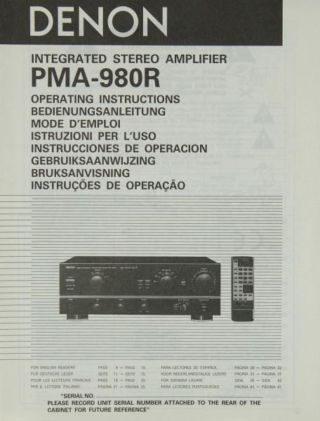 Denon PMA-980 R Bedienungsanleitung