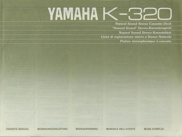 Yamaha K-320 Bedienungsanleitung