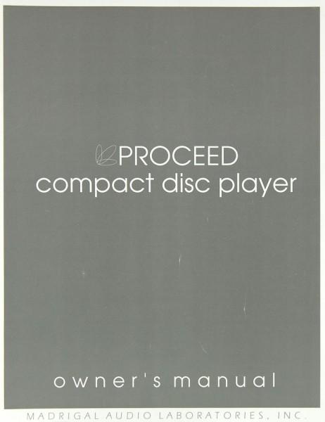 Proceed CD Bedienungsanleitung