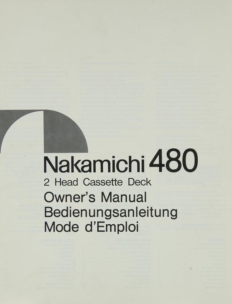 nakamichi 480 manual