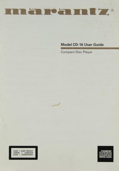 Marantz CD-16 Bedienungsanleitung