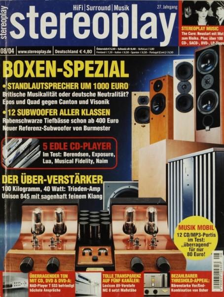 Stereoplay 8/2004 Zeitschrift