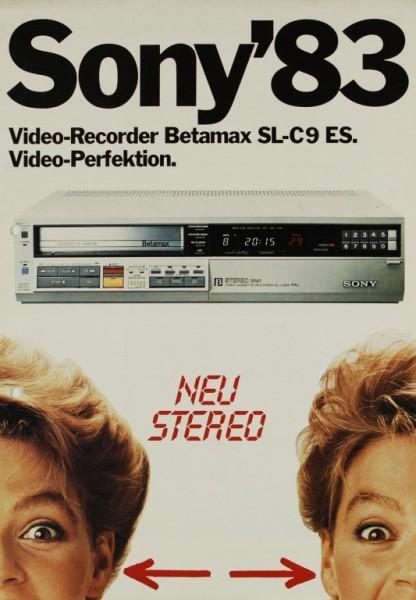 Sony Sony ´83 - Betamax SL-C 9 ES Prospekt / Katalog