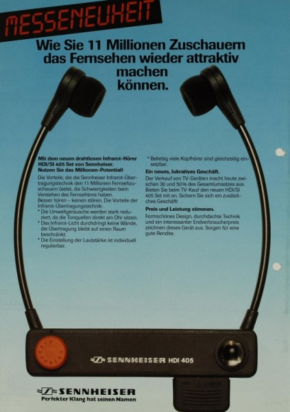 Sennheiser HDI 405 Prospekt / Katalog