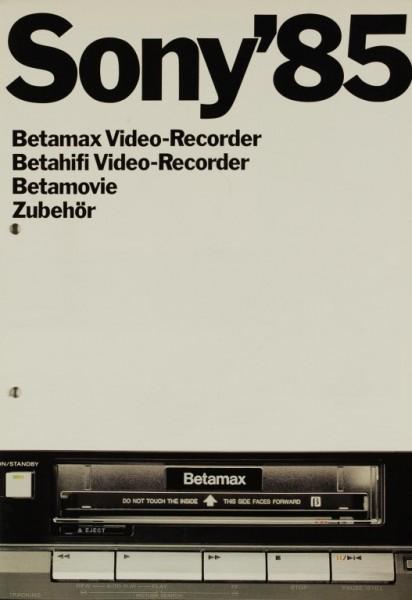 Sony Sony ´85 - Betamax & Betahifi Video-Recorder etc. Prospekt / Katalog