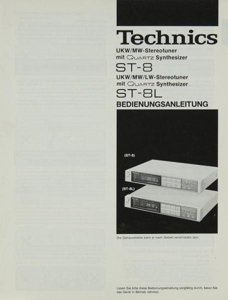 Technics ST-8 / ST-8 L Bedienungsanleitung
