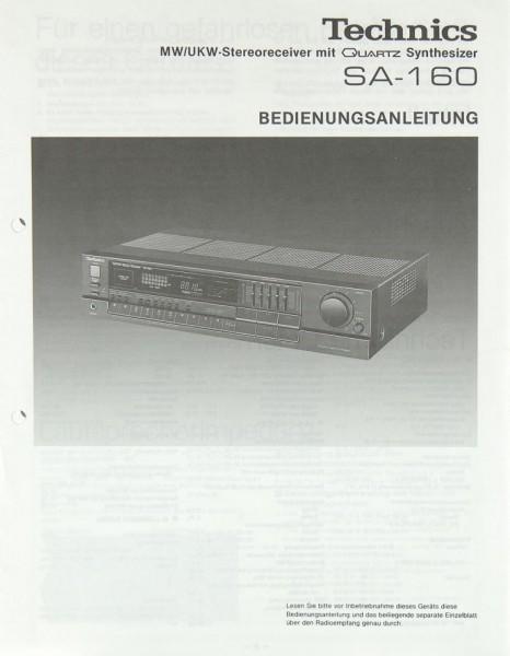 Technics SA-160 Bedienungsanleitung