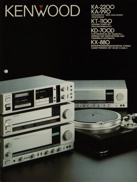 Kenwood KA-2200 / KA-990 / KT-1100 / KD-700D / KX-880 Prospekt / Katalog