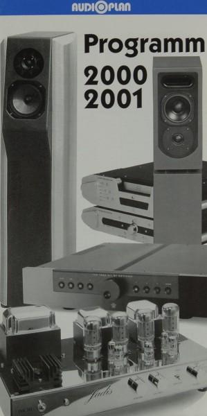 Audioplan Programm 2000 / 2001 Prospekt / Katalog