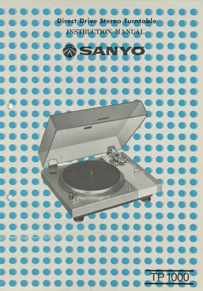 Sanyo TP 1000 Bedienungsanleitung