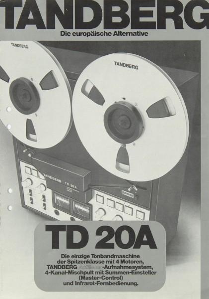 Tandberg TD 20 A Prospekt / Katalog