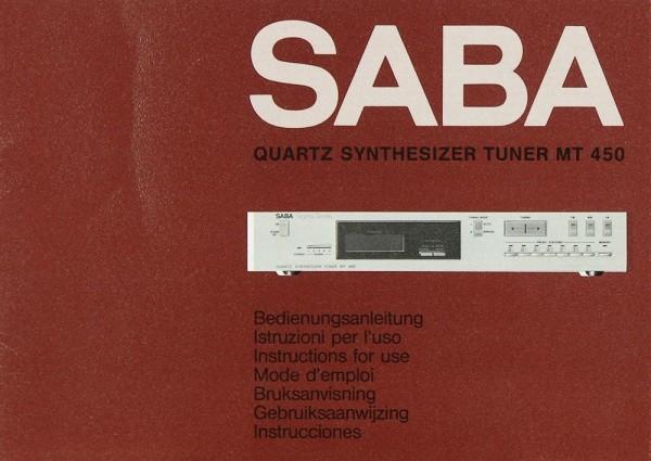 Saba MT 450 Bedienungsanleitung