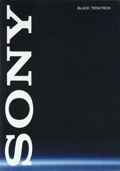 Sony Black Trinitron Prospekt / Katalog