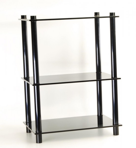 Metall-/Glasrack schwarz