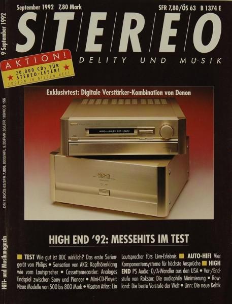 Stereo 9/1992 Zeitschrift